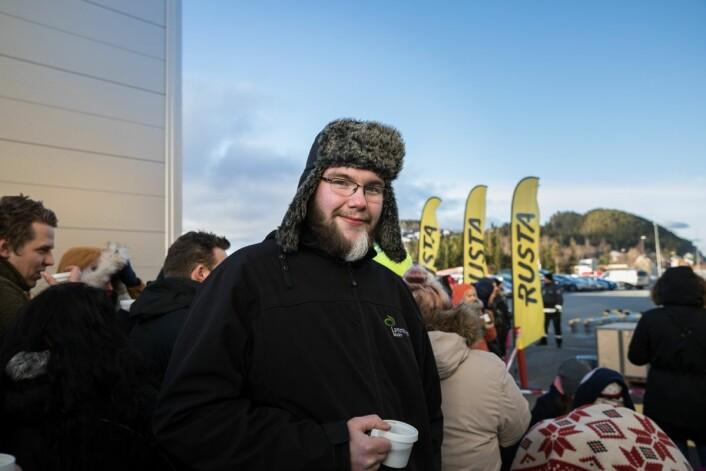 Andreas Kloken var førstemann i køen. Foto: Johnny Vaet Nordskog