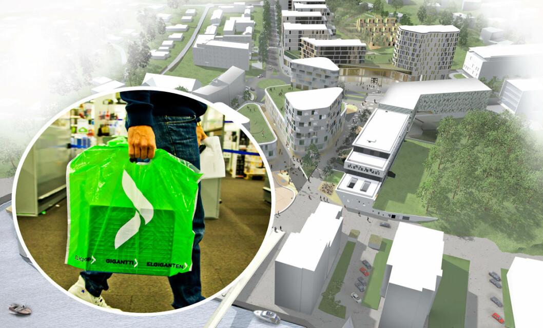 I utgangen av 2019 åpner Elkjøp butikk på Værstetorvet i Fredrikstad. (Illustrasjon: Elkjøp)