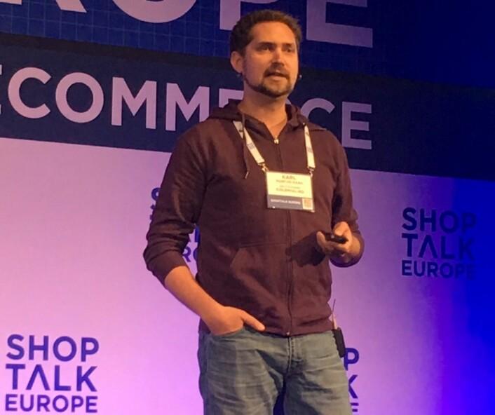 Karl Munthe-Kaas i kolonial.no snakket om den avgjørende betydningen av 'the last mile' på ShopTalk i København.