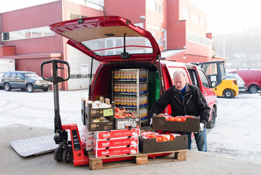 Helt siden Matsentralens oppstart i 2013 har selskaper som ASKO, Unil og Matbørsen levert overskuddsmat til Matsentralen. (Foto: Monica Løvdahl)