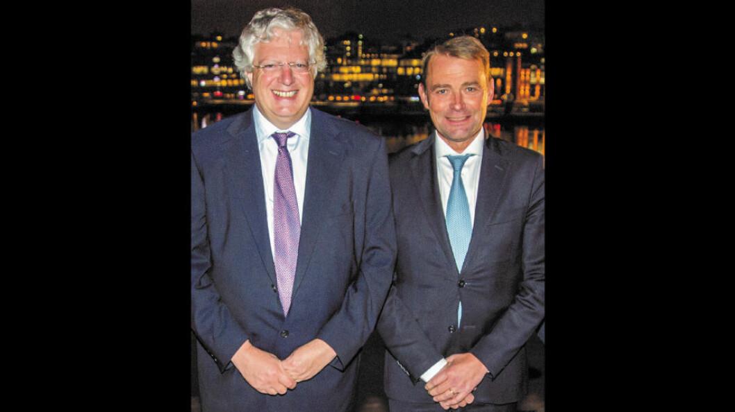 Guy Hands (t.v) og Christer Åberg. (Foto: McDonald's)