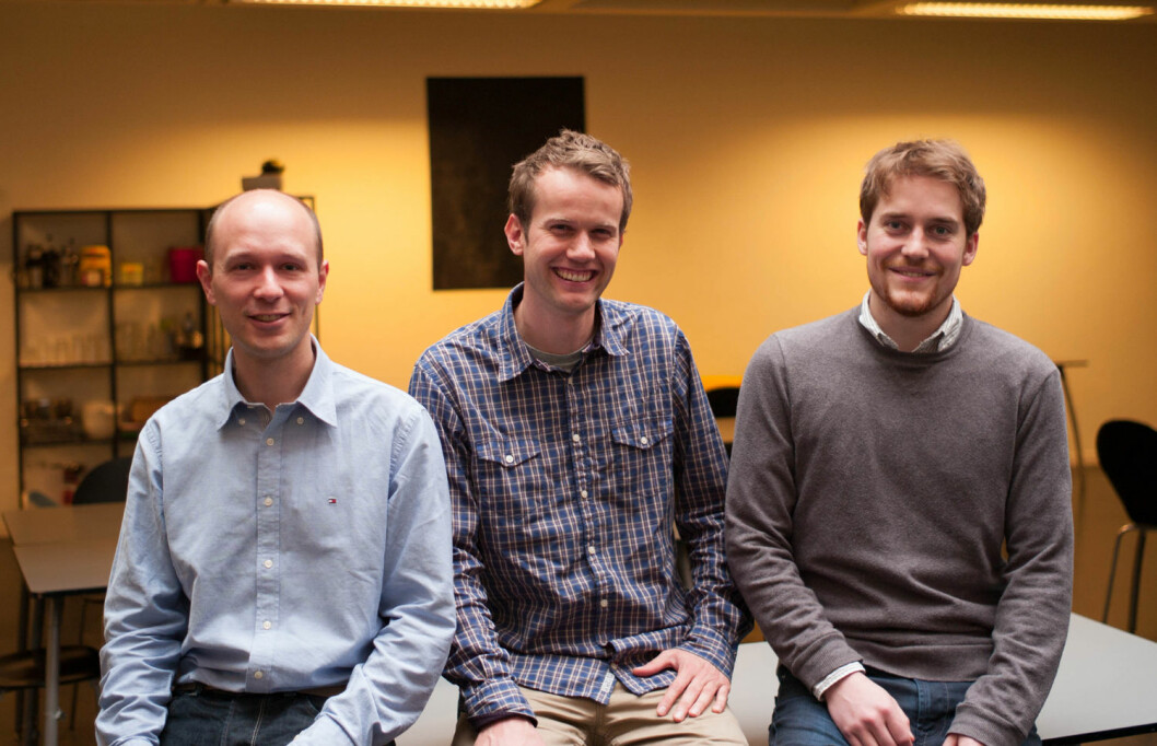 Gründere av KickBack (fra venstre): Arne Kepp, Mats Staugaard og Magnus Kolstad. (Foto: KickBack)