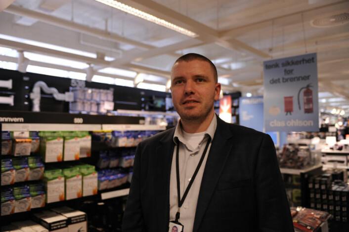 Når det gjelder å redusere svinn, er overvåkningskamera et godt verktøy, sier sikkerhetssjef Kjell-Inge Oftedal hos Clas Ohlson.