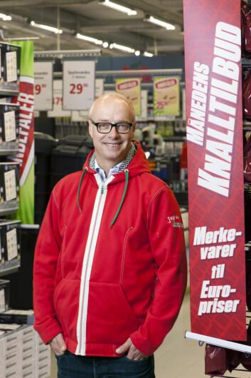 Europris har slått markedet hvert eneste år de siste tolvårene, sier en smilende Europris-sjef, Pål Wibe