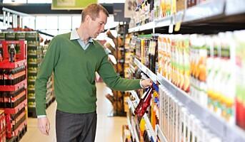 Svak økning i matprisene