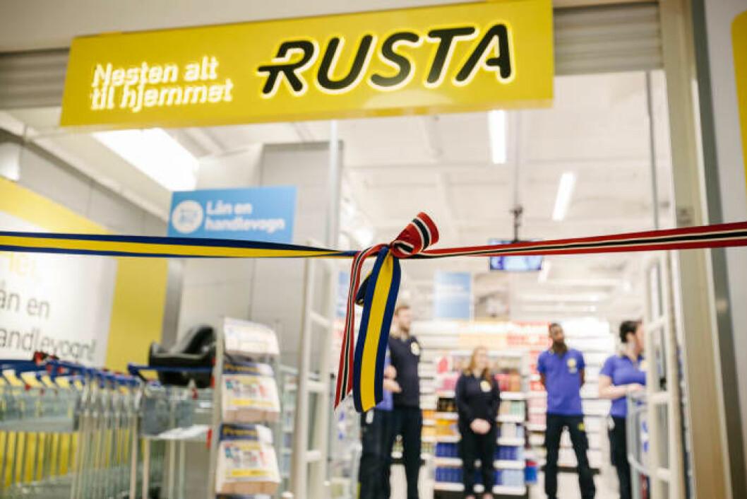 ÅPNER: Rusta åpner varehus på Stord. Foto: Johnny Vaet Nordskog