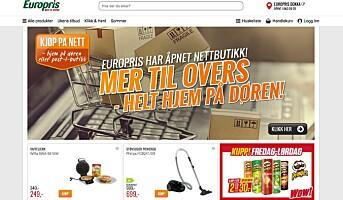 Europris i gang med netthandel