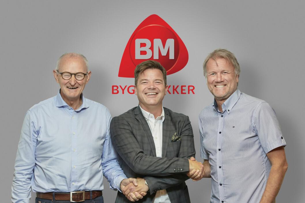 OPPKJØP: Gunnar Johansen (t.v), Knut Strand Jacobsen og Eirik Tronstad. Foto: Morten Brakstad