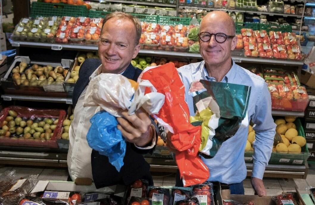 F.v.: Daglig leder Eirik Oland og styreleder Peter Sundt i Handelens Miljøfond.