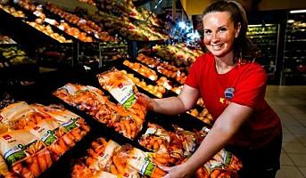 Snåle grønnsaker i butikk