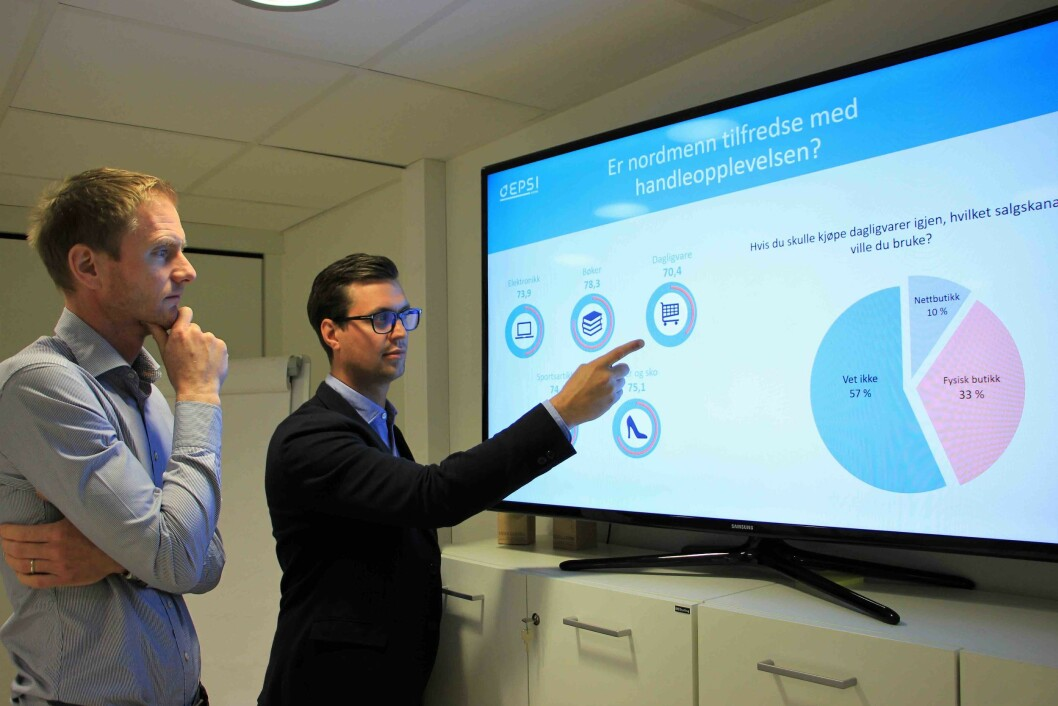 Fredrik Høst er daglig leder og Øystein Kvamme er senior forretningsutvikler i EPSI. Foto: EPSI