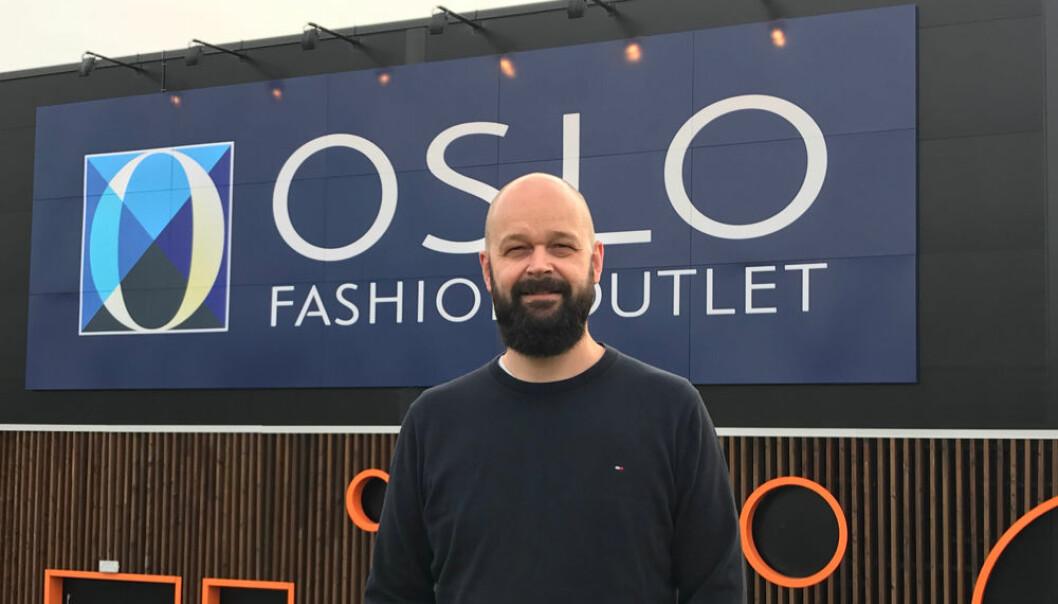 Lars Pedersen er senterleder på Oslo Fashion Outlet.