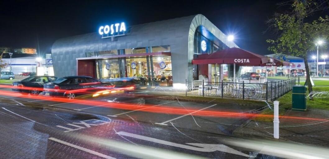 Costa er et av verdens sterkeste kaffebarmerker, innbefattet en kjede med 4000 butikker. (Foto: Coca-Cola Company/Costa)