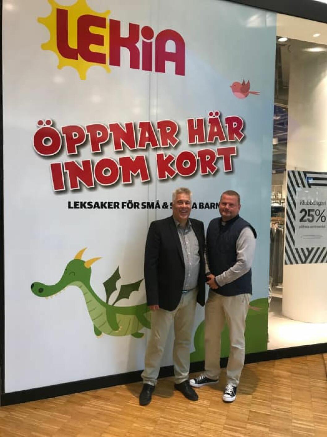 Ny og gammel ledelse. Thomas Axell til venstre, Baldvin Georgsson til høyre. (Foto: Lekia)