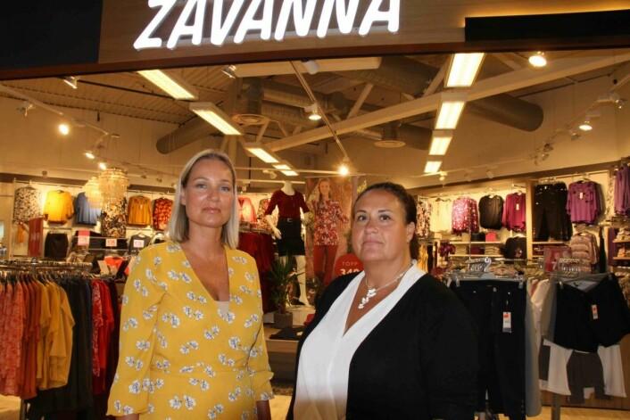 Zavanna-butikken ved Grorud Senter er en av de minste i kjeden, men også en av dem med størst omsetning per kvadratmeter, fortelle Henriette Burgess (t.v.) og Hilde Berggraf.