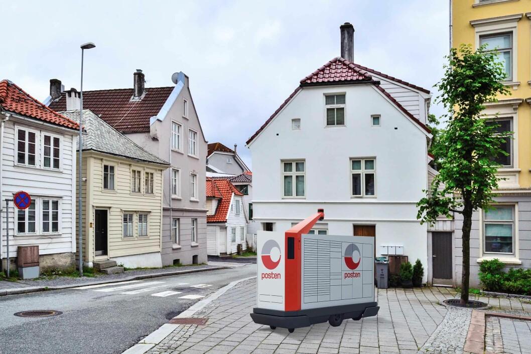 Postens selvkjørende brev- og pakkerobot får internasjonal oppmerksomhet. Foto: Colourbox/Posten