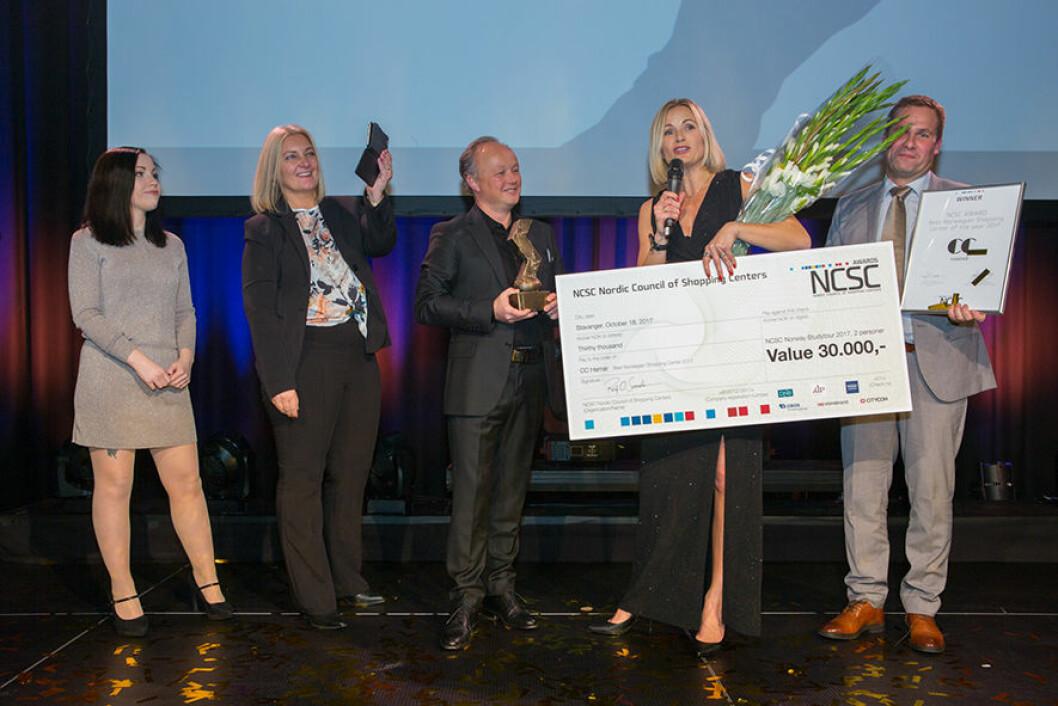 CC Hamar – glade vinnere av prisen Årets Kjøpesenter 2017.