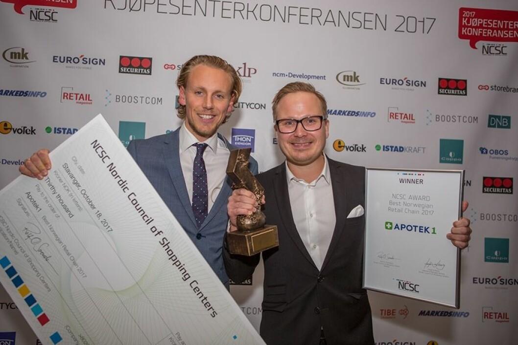 På fjorårets Kjøpesenterkonferanse ble Apotek 1 kåret til Årets Butikkjede.
