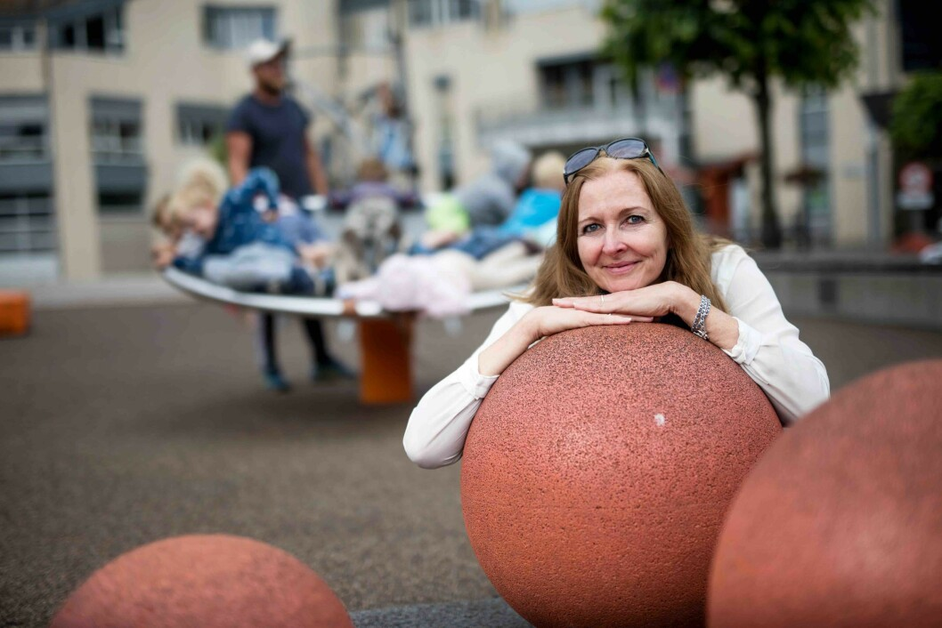 Hanne Gulbrandsen er daglig leder i sentrumsselskapet Arendal By. Foto: Hugo Lande