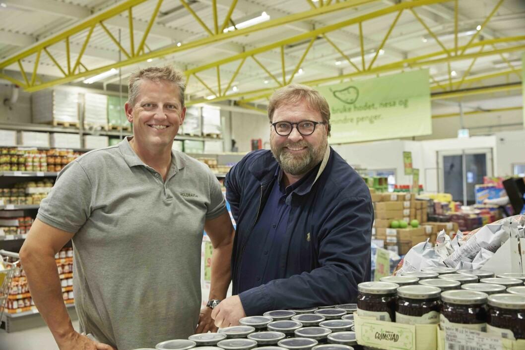 Gründerne Trond J. Laeng og Thor Johansen satser friskt. (Foto: Holdbart)