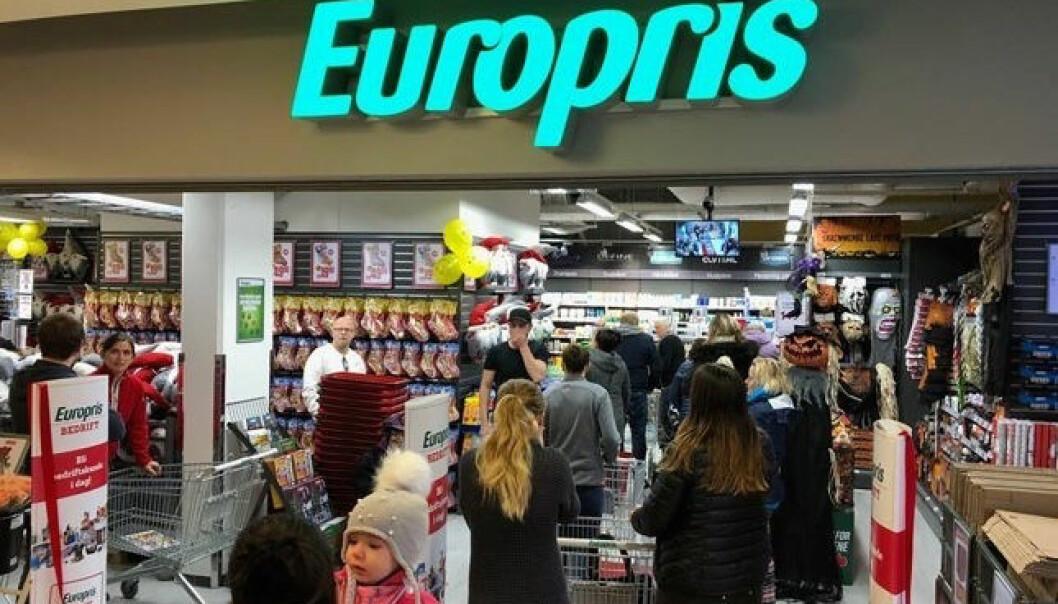 Europris har høy vekst og spiser markedsandeler. Ill. foto fra Nannestad Torg.