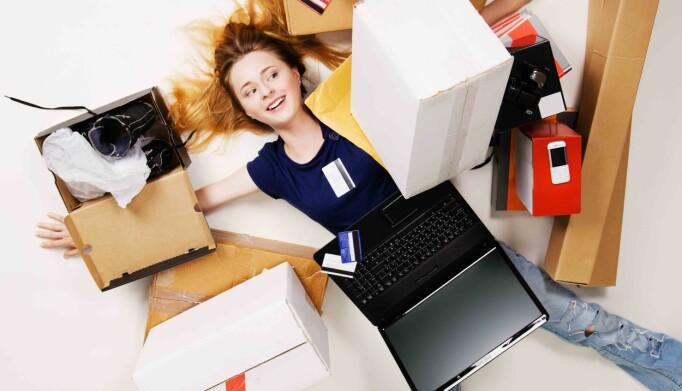 Netthandel skaper mye emballasje. Ill. foto