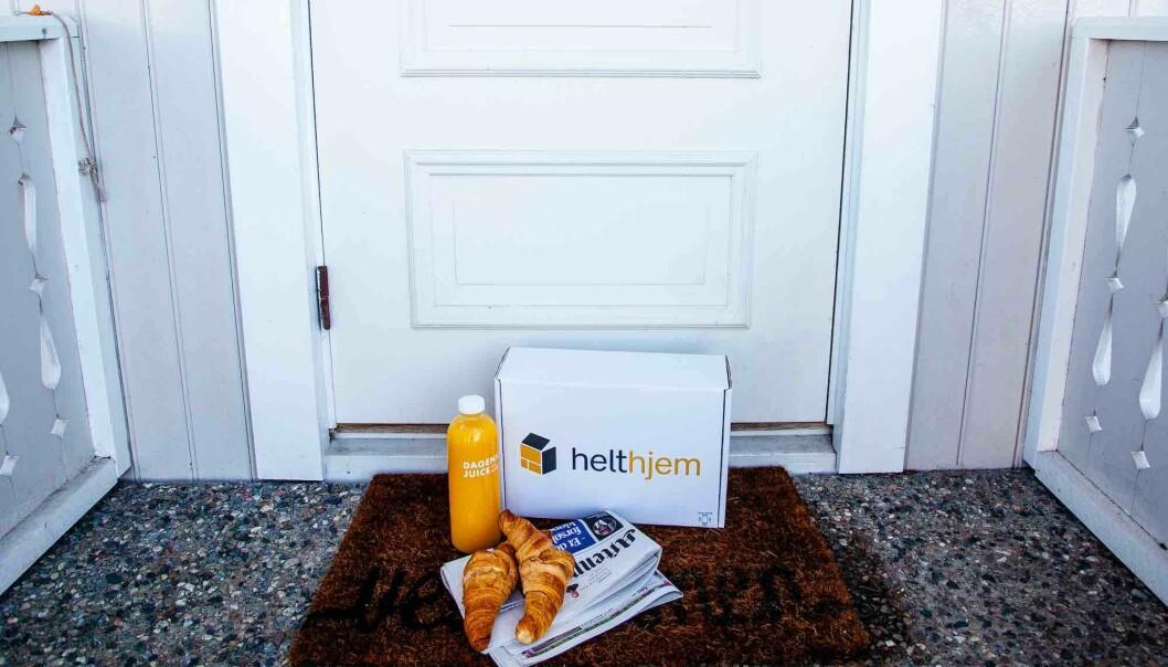 Helthjem leverer på døra eller i postkassa seks dager i uka.