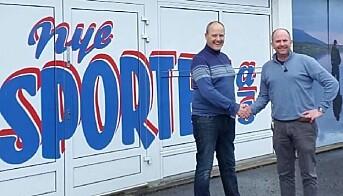 Per Arne Tollefsbøl fra Nye Sporten og Lasse Ellingsen fra Kongssenteret er enige om å satse på sport og faghandel.