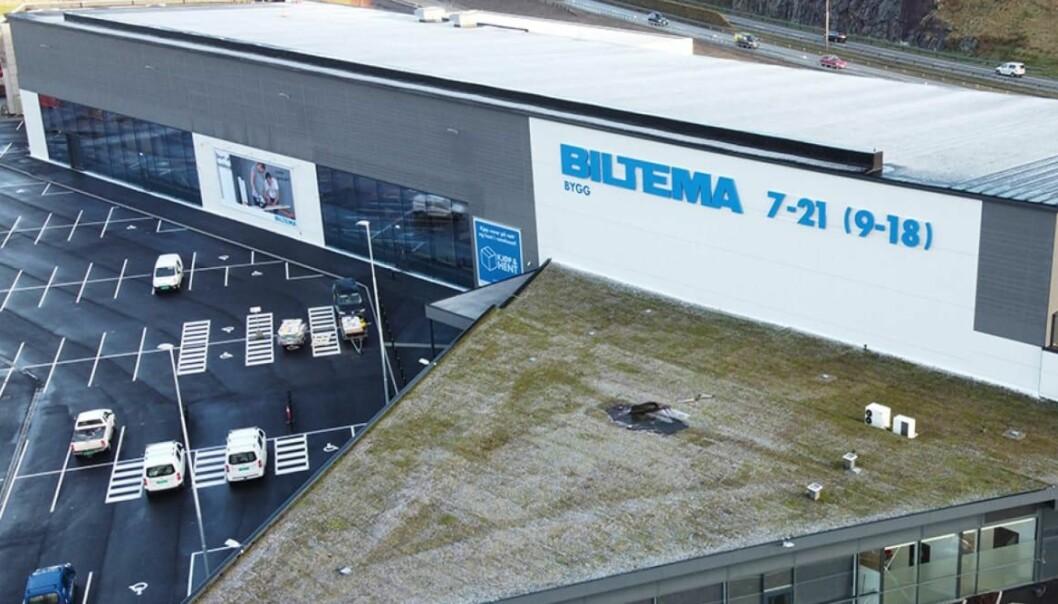 Biltema etablerte seg på Forus i mars uten sentrale produkter innen bil, båt, hjem, som innebar en åpning med bare en åttendedel av Biltemas opprinnelige sortiment.