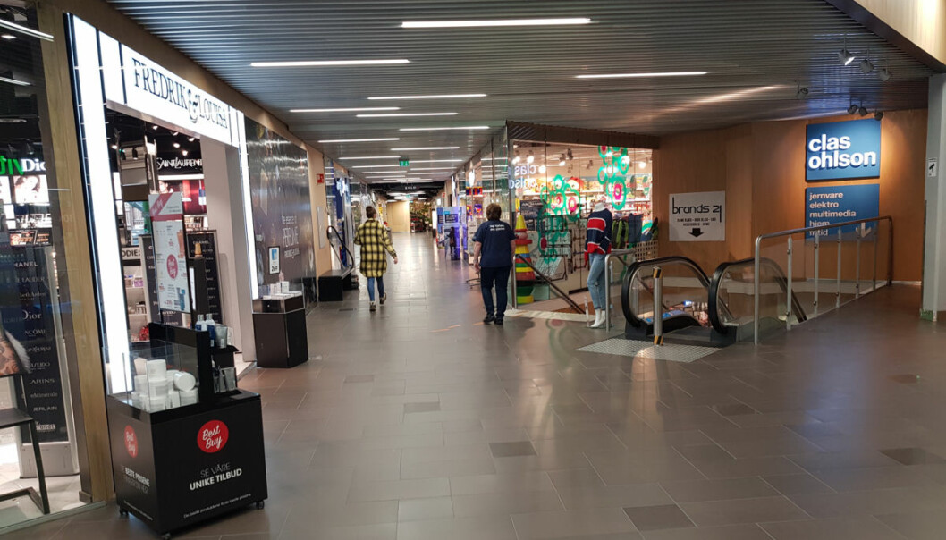Ill. foto fra Kremmertorget på Elverum tidligere denne uka.