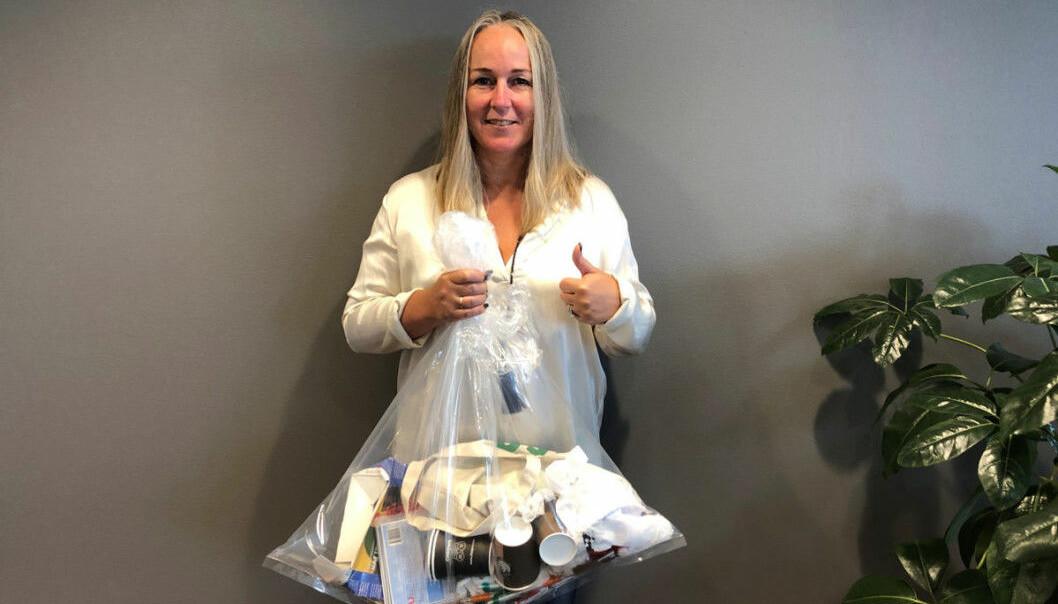 – Dersom du bestiller container, husk hansker, god håndhygiene og avstand til andre under ryddingen, sier Bente Åsen Sørum, CMO i Ragn-Sells AS.