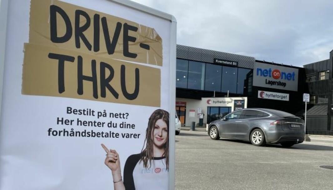 NetOnNet drive thru på Alnabru i Oslo.