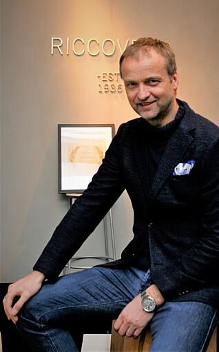 Finn Einar Kvamme etter at Ricco Vero ble kåret til årets leverandør i 2017.
