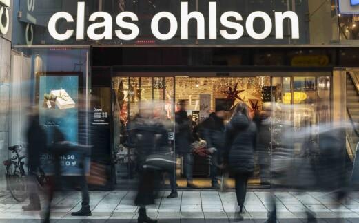 1 % fall for Clas Ohslon i januar – kraftig vekst på nett