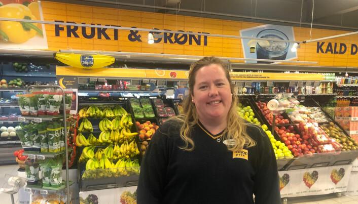 Butikksjef Cathrine Ydstines: – Butikken skal innvendig oppgraderes til det kjeden kaller 'Prix 2.0'.