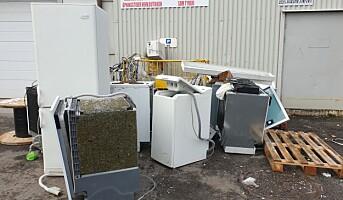 For dårlig sikring av EE-avfall