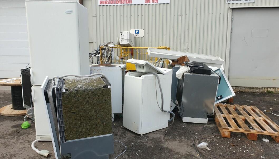 Tilsyn viste at ca 40% av butikkene hadde mangelfull sikring av EE-avfallet.