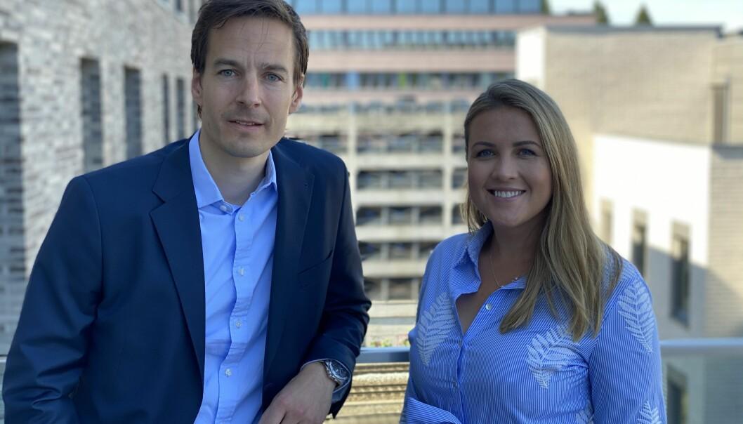 Utviklingsdirektør Fredrik Myhre og leasing manager Stine Bjørdal i Citycon.
