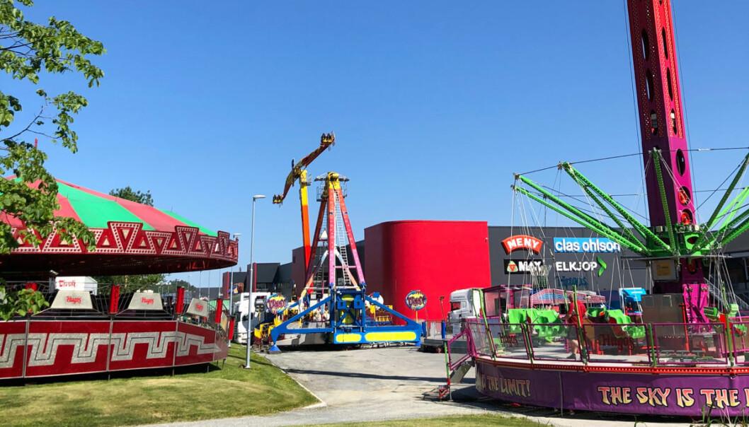Sommerparken har fått til rådighet 1200 kvm i forkant av Magneten Kjøpesenter.