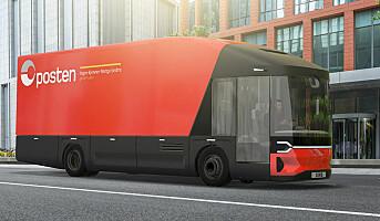 Posten utvikler helelektrisk lastebil – skal brukes i bysentra