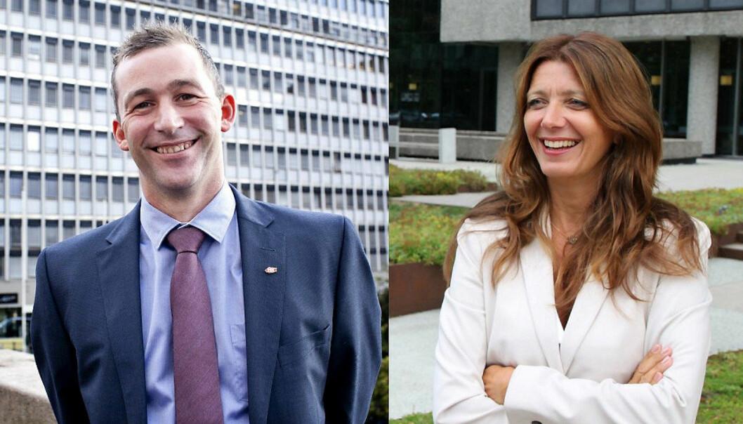 Forbundsleder Christopher Beckham i Handel og Kontor og adm. dir. Anne-Cecilie Kaltenborn i NHO Service og Handel er blitt enige.