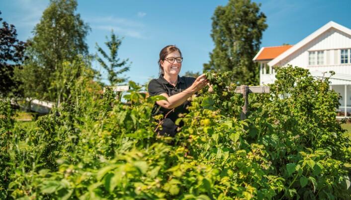 Finalist Astrid Lier Lømuld, daglig leder i Askim frukt- og bærpresseri.