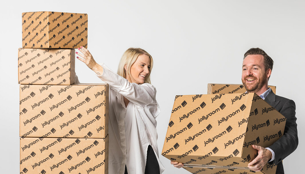 CMO Frida Ekholm og CFO Emil Thell rigger Jollyroom for videre vekst.