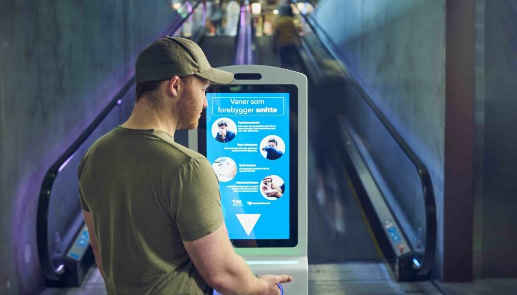 Procon DigiClean kombinerer digital informasjon med smittevern.