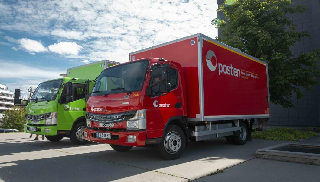 De to nye el-lastebilene til Posten og Bring erstatter begge en dieselbil.