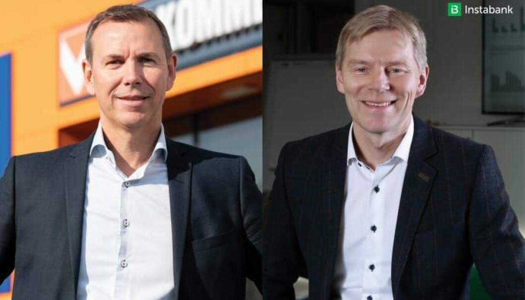 Espen Braaten, kjededirektør for Bygg i Coop og Robert Berg, administrerende direktør, Instabank ASA.
