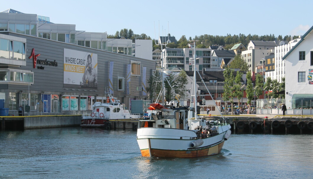 Nerstranda ligger på kaikanten midt i Tromsø sentrum.