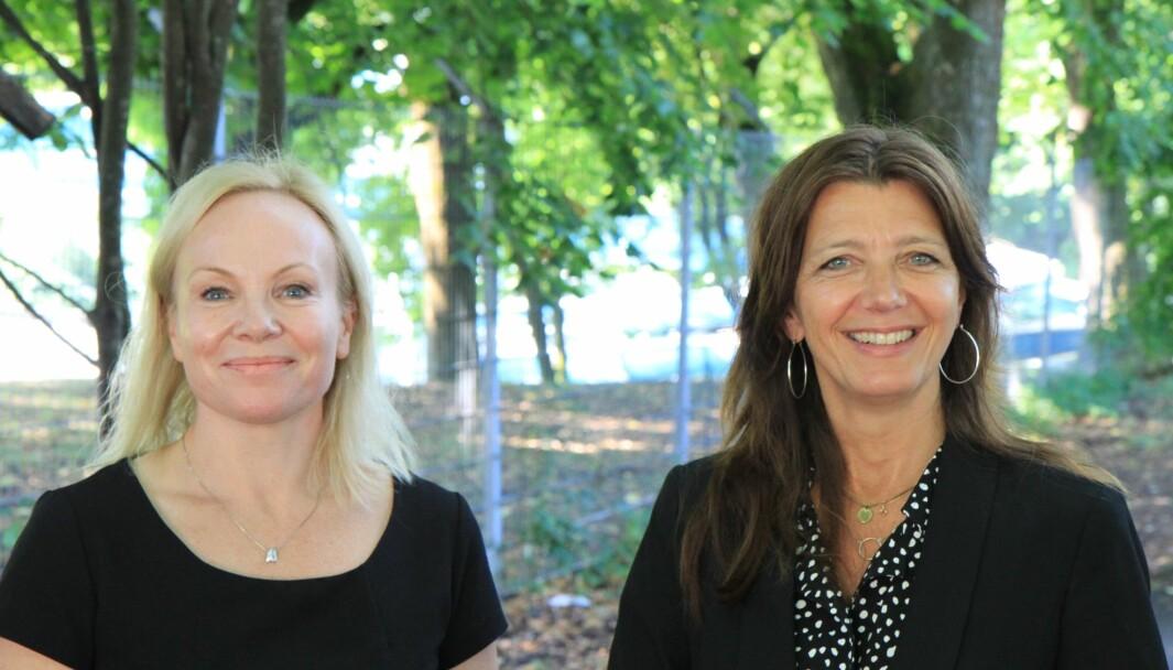 Linda Vist, direktør for handel og Anne-Cecilie Kaltenborn, adm. dir i NHO Service og Handel, konstaterer at medlemmene er blitt mer optimistiske.
