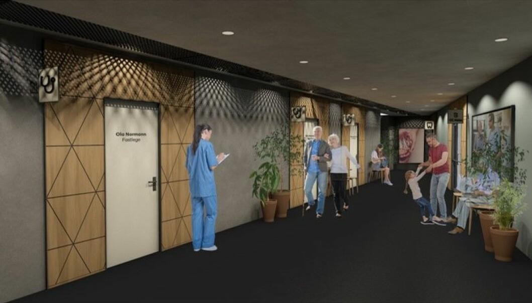 3. etasje på CC Drammen blir en ren helseetasje.