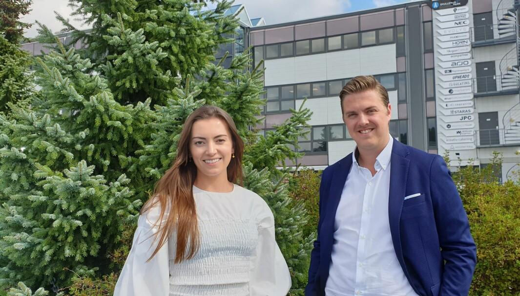 Amanda Myhren og Mathias Myrseth er begge blitt ansatt i Cappa i sommer.